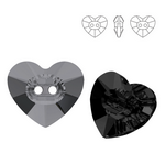 3023 Heart Crystal Button