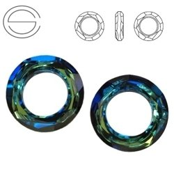 4139 MM 14 Swarovski Cosmic Ring BERMUDA BLUE BBL