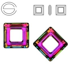 4439 MM 14 Swarovski Square Ring VITRAIL MEDIUM VM