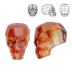 5750 MM 13 Swarovski Skull Bead RED MAGMA REDM