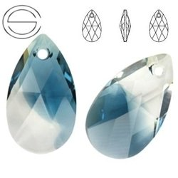 6106 MM 16 Swarovski Pear-shaped CRYSTAL MONTANA B