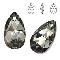 6106 MM 16 Swarovski Pear-shaped SILVER NIGHT SINI