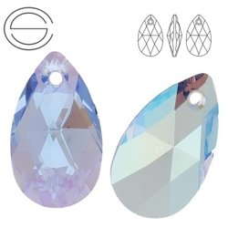 6106 MM 22 Swarovski Pear-shaped LIGHT SAPPHIRE SH