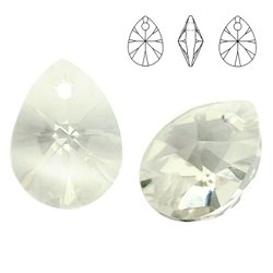 6128 MM 10 Swarovski Mini Pear SILVER SHADE SSHA