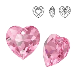 6432 MM 8 Swarovski Heart Cut ROSE