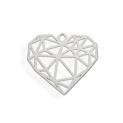 CL-309 HEART Pendant Sterling Silver 925