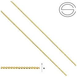 CPLD 1 Z Sterling Silver 925 Silver Chain for Jewelry Making GOLD PLATED