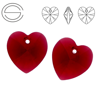 6228 MM 14 Swarovski Heart SCARLET