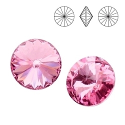 1122 MM 14 Swarovski Rivoli LIGHT ROSE F