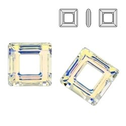 4439 MM 20 Swarovski Square Ring Crystal AB