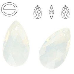 6106 MM 38 Swarovski Pear-shaped WHITE OPAL