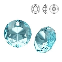 6430 MM 14 Swarovski Classic Cut AQUAMARINE
