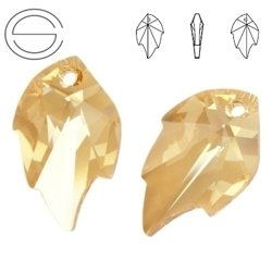6735 MM 26 Swarovski Leaf GOLDEN SHADOW GSHA