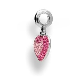 Beads - BeCharmed Pavé Heart - Swarovski Crystals